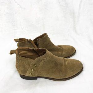 Franco Sarto Brown Kelton Ankle Leather Boots